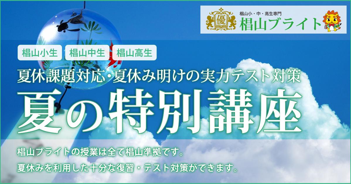 椙山ブライト〈椙山小・椙山中・椙山高生対象〉夏の特別講座