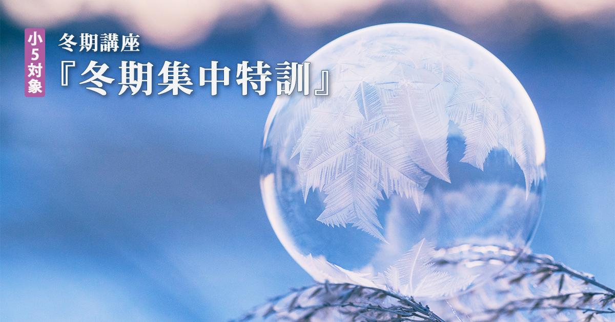 〈小5対象〉『冬期集中特訓』 詳細はこちら