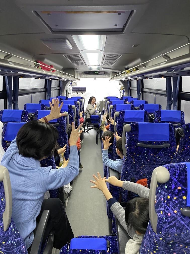 新年長児 バス内の様子2