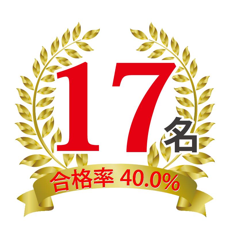 受検名大附 2021年度合格者数 17名