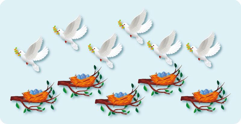鳩の巣原理 図