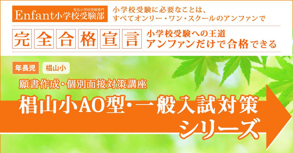 『椙山AO型・一般入試対策講座シリーズ2018』 〜アンファンだけで合格できる 小学校受験に必要なことは、すべてオンリー・ワン・スクールのアンファンで〜