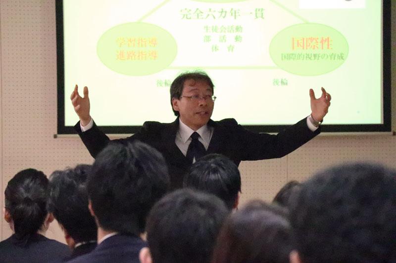 南山高等学校・中学校男子部教頭 岡野成利先生